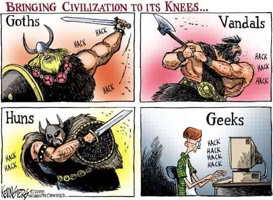 Bringing civilization to its knees ...